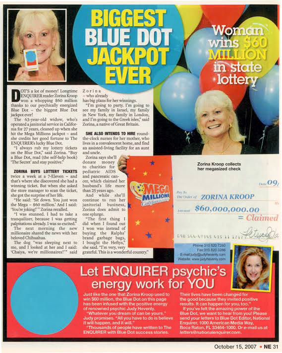 Enquirer Blue Dot jackpot winner