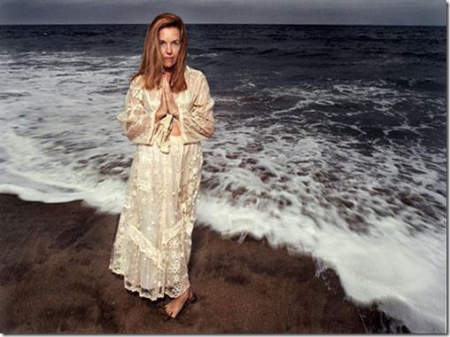 Judy Hevenly, psychic, at ocean shore